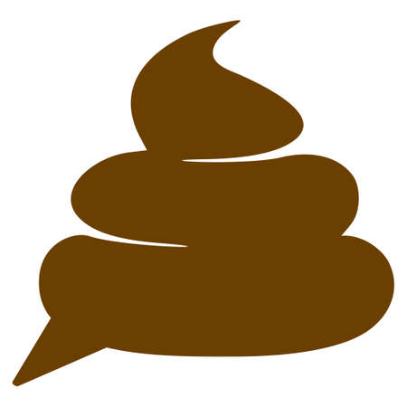 A Shit Idea Cloud flat vector illustration. An isolated icon on a white background.