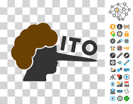 Ito Lier pictograph with bonus bitcoin mining and blockchain pictograms. Vector illustration style is flat iconic symbols. Designed for cryptocurrency software.
