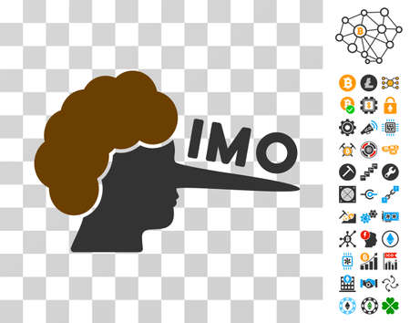 Imo Lier pictograph with bonus bitcoin mining and blockchain pictographs. Vector illustration style is flat iconic symbols. Designed for cryptocurrency software.