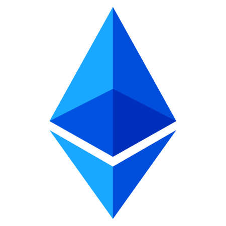 Ethereum Lite flat raster pictogram. An isolated icon on a white background.