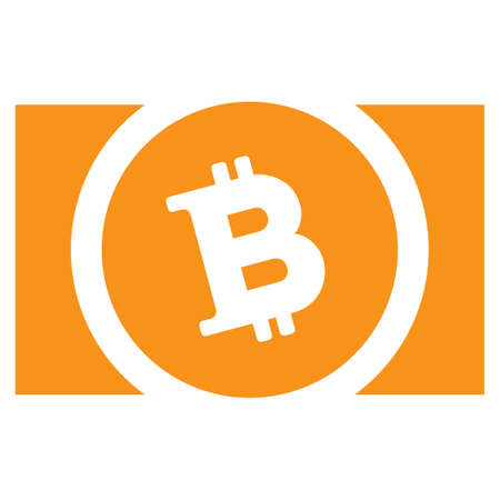 Bitcoin Cash flat vector pictograph. An isolated icon on a white background. Ilustracja