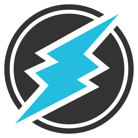 Electroneum flat vector pictograph. An isolated icon on a white background.