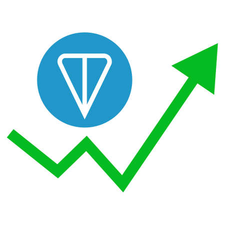 Ton Growing Trend flat vector pictograph. An isolated icon on a white background.