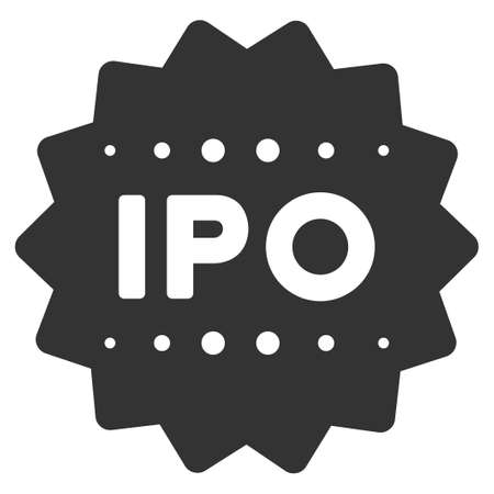 Ipo Token flat raster illustration. An isolated icon on a white background. Stock Photo