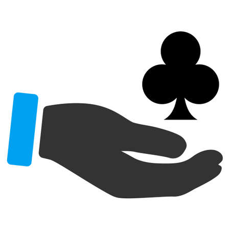 Croupier Hand flat raster pictogram. An isolated icon on a white background. Stock Photo