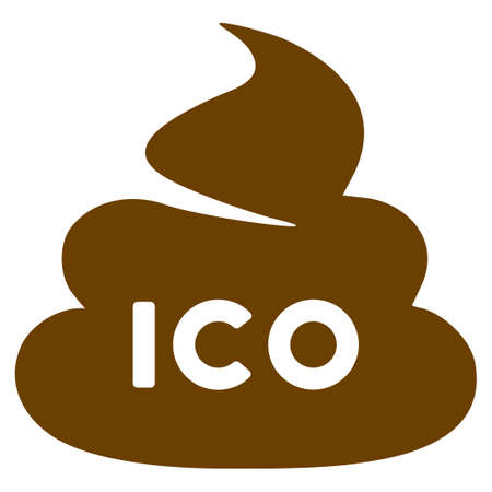 Ico Shit flat raster icon. An isolated icon on a white background.