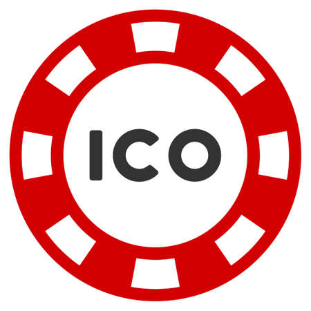 Ico Token flat raster pictogram. An isolated icon on a white background. Zdjęcie Seryjne