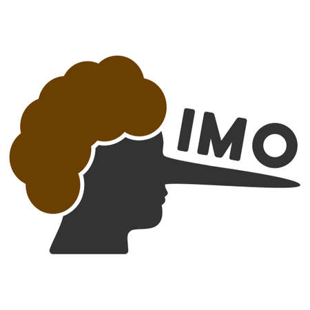 Imo Lier flat raster icon. An isolated icon on a white background.