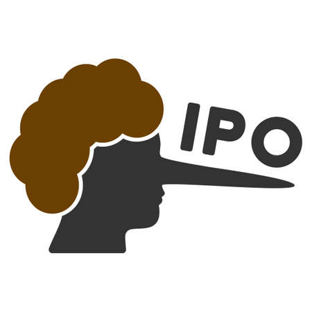 Ipo Lier flat raster pictogram. An isolated icon on a white background. Stock Photo