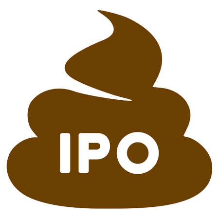 Ipo Shit flat raster illustration. An isolated icon on a white background. Stock Photo