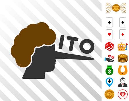 Ito Lier-pictogram met bonusgokafbeeldingen. Vector illustratie stijl is plat iconische symbolen. Ontworpen voor casino gui. Stockfoto - 94014298