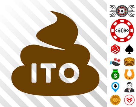Ito icon with bonus casino design elements. Vector illustration style is flat iconic symbols. Designed for casino ui.