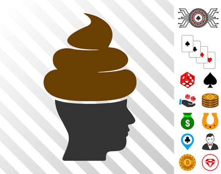 pictograph with bonus gamble graphic icons. Vector illustration style is flat iconic symbols. Designed for casino ui.