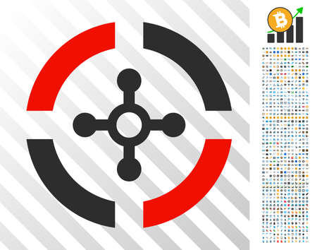 Roulette pictograph with 7 hundred bonus bitcoin mining and blockchain pictographs. Vector illustration style is flat iconic symbols designed for bitcoin websites.