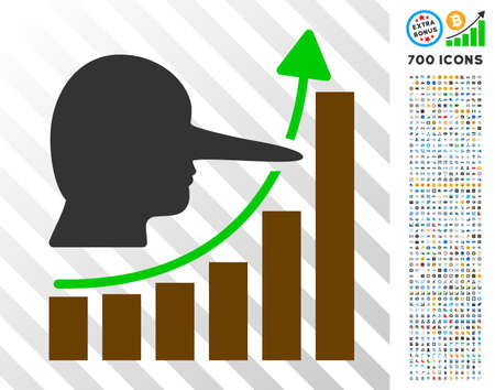 Lier Hyip Chart icon with 700 bonus bitcoin mining and blockchain pictures. Vector illustration style is flat iconic symbols designed for bitcoin websites.