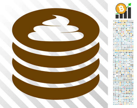 Shit Coin Stack pictograph with 700 bonus bitcoin mining and blockchain graphic icons. Vector illustration style is flat iconic symbols designed for blockchain websites.