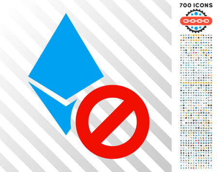 Forbidden Ethereum Crystal pictograph with 7 hundred bonus bitcoin mining and blockchain pictures. Vector illustration style is flat iconic symbols designed for cryptocurrency websites.