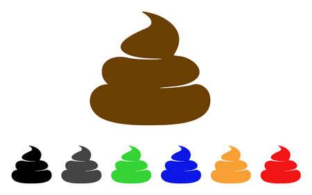 Icona di merda. Lo stile di illustrazione vettoriale è un simbolo di merda iconico piatto con varianti di colore grigio, giallo, verde, blu, rosso, nero. Progettato per interfacce Web e software. Archivio Fotografico - 94099963
