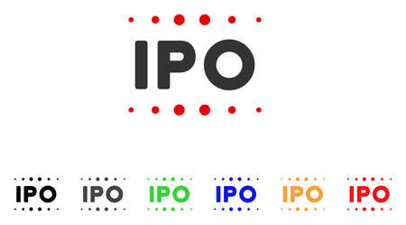 Ipo Caption icon. Vector illustration style is a flat iconic ipo caption symbol with grey, yellow, green, blue, red, black color variants. Designed for web and software interfaces.