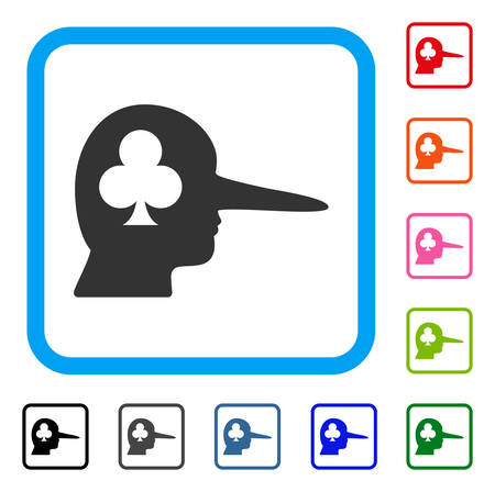 Gambling jerk icon. Flat gray pictogram symbol inside a blue rounded square. Black, gray, green, blue, red, pink color additional versions of gambling jerk vector. Stock Vector - 94258793