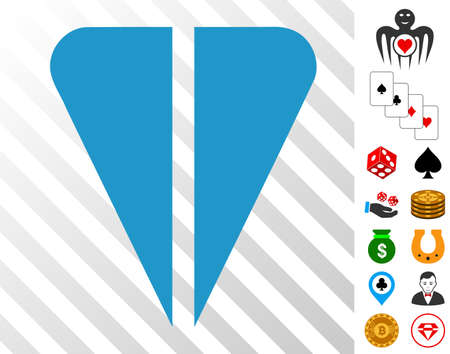 Ton Currency icon with bonus gamble pictures. Vector illustration style is flat iconic symbols. Designed for gambling ui. Çizim