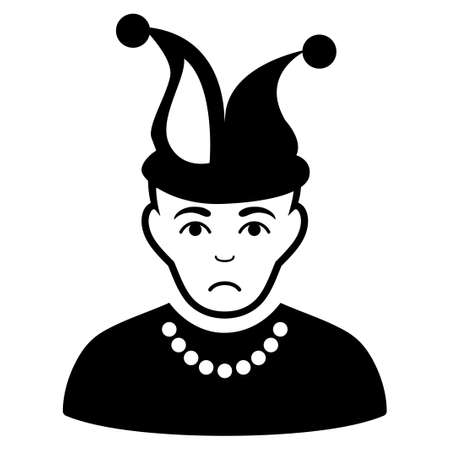 Dolor Fool vector icon. Style is flat graphic black symbol with depression sentiment.
