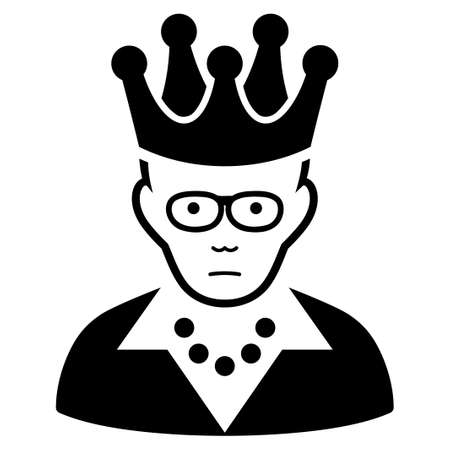 Sadly Queen Vector Icon Human Face Has Mourning Emotion Black