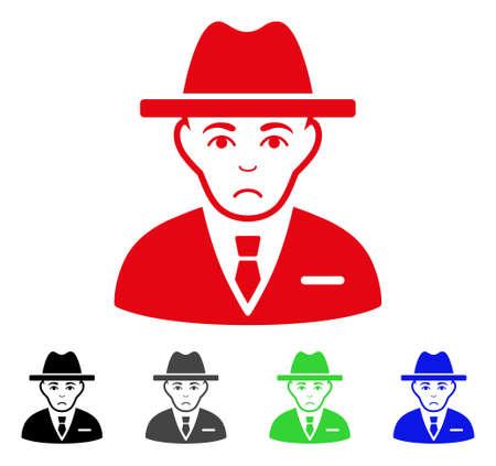 Dolor Agent  pictogram  in different colors. Ilustração