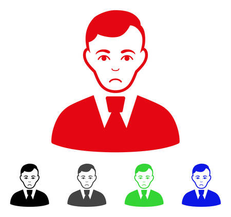 Dolor Clerk Guy vector pictograph. Vector illustration style is a flat iconic clerk guy symbol. Illustration