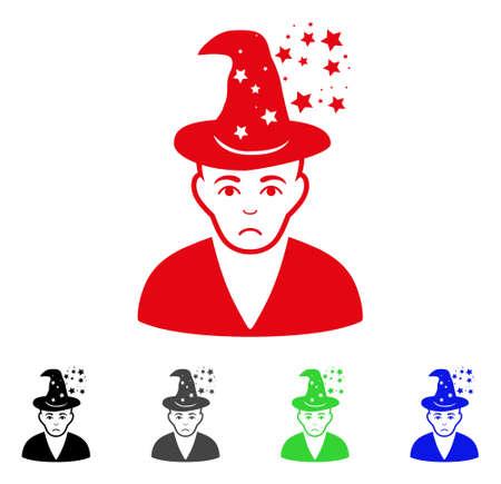 Dolor Magic Master icon in different colors. Ilustração