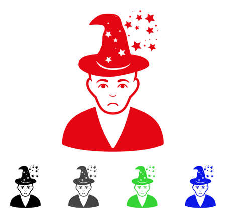Dolor Magic Master icon in different colors. Illustration