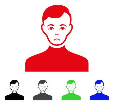 Pitiful Male icon in different colors.