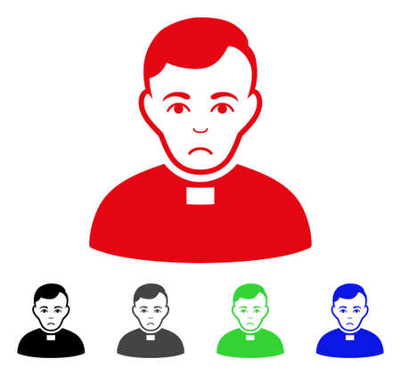 Pitiful Priest pictogram  in different colors. Illustration