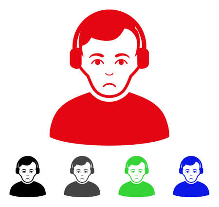 Dolor Radioman pictogram in different colors. Illustration