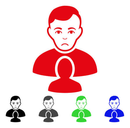 Pitiful User Partner vector pictogram. Vector illustration style is a flat iconic user partner symbol.