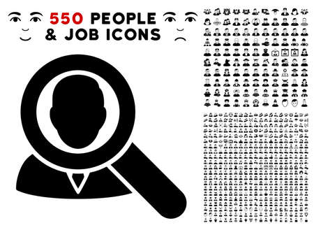 Find User icon with 550 bonus pitiful and glad user pictograms. Vector illustration style is flat black iconic symbols.