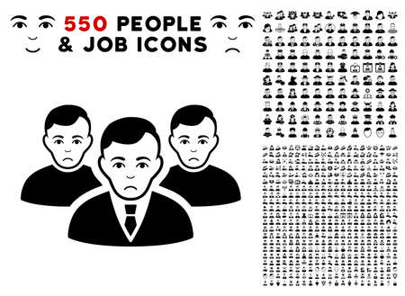 Sadly Men pictograph with 550 bonus pitiful and glad men images. Vector illustration style is flat black iconic symbols.