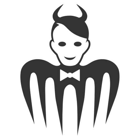 Devil Spectre vector pictogram. Style is flat graphic symbol, gray color, white background.