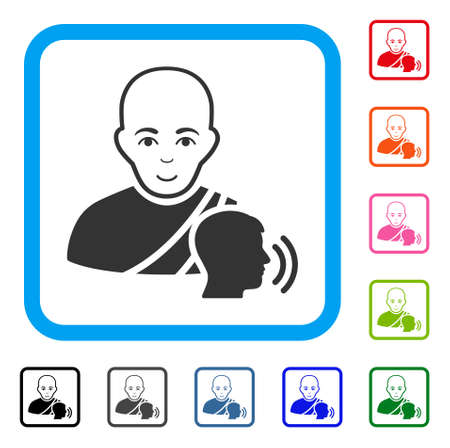 Happy Buddhist Confession vector icon. Illustration