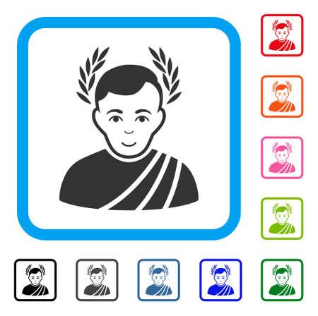 Caesar Wreath vector icon. Illustration