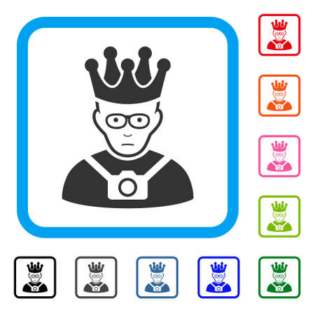 Thailand King raster flat pictogram. Person face has happiness mood.