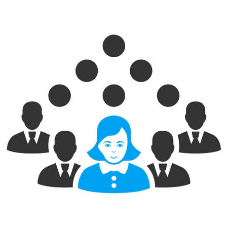 Staff Team vector pictograph. Flat bi-color pictograph designed with blue and gray.