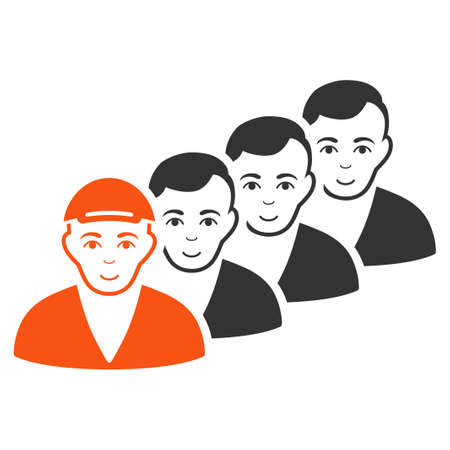 People Queue vector flat pictogram.