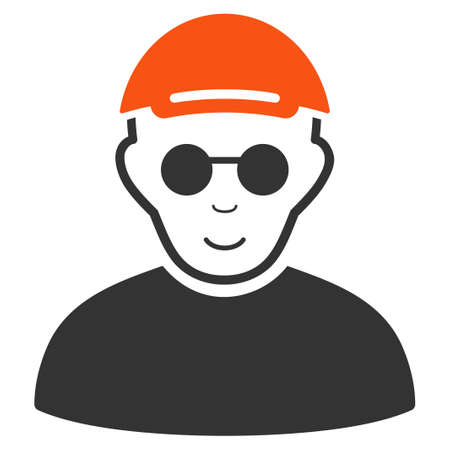 Blind Man vector flat pictogram.