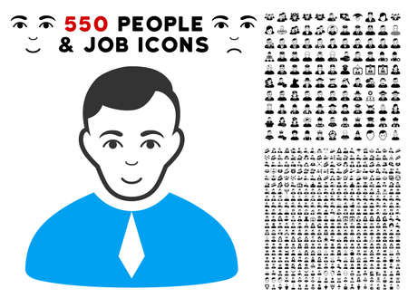 A Lawyer vector icon with 550 bonus pity and glad user icons. Illustration