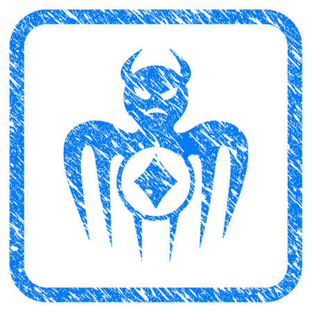 Gambling Spectre Devil scratched textured icon inside rounded rectangle for overlay watermark imitations.