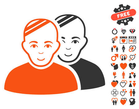 Patients pictograph with bonus marriage pictograms. Vector illustration style is flat iconic symbols. Illustration