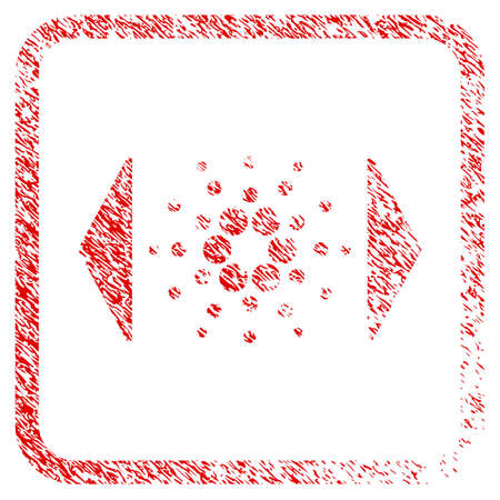 Regulate Cardano rubber seal stamp imitation. Icon vector symbol with grunge design and unclean texture inside rounded frame. Scratched red sign.