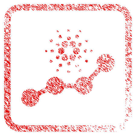 Cardano Trend rubber seal stamp imitation. Icon vector symbol with grunge design and unclean texture inside rounded frame. Scratched red stamp imitation. Illustration