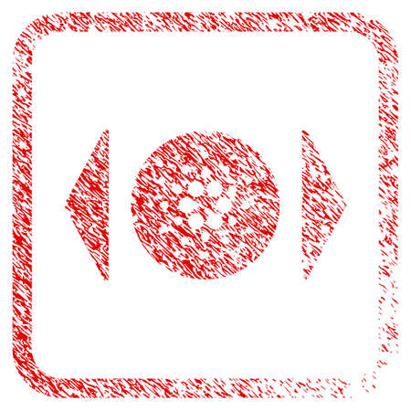 Regulate Cardano rubber seal stamp watermark. Icon vector symbol with grunge design and dirty texture inside rounded frame. Scratched red sticker.